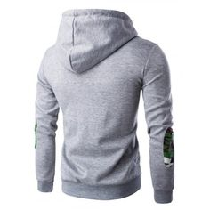Hooded Camouflage Spliced Pocket Zip-Up Long Sleeve Hoodie For Men #women, #men, #hats, #watches, #belts, #fashion, #style