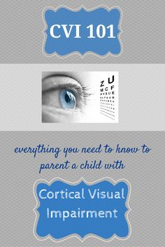 Great collection of resources if you have a child with Cortical Visual Impairment.