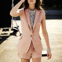 Como usar colete de alfaiataria no verão - Moda it