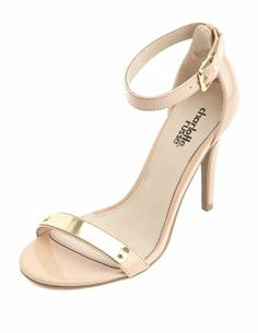 Gold Plate Single Sole Heel: Charlotte Russe