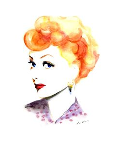 I Love Lucy   #watercolor #illustration by Soo Kim