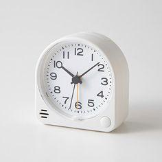 アナログ目覚まし時計 置時計・ホワイト   無印良品ネットストア ネットストア ...