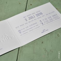Trouwkaart Janne en Thijs – Letterpers.nl Personalized Items