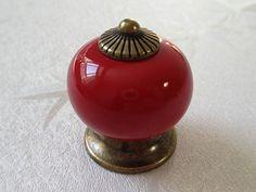 Beautiful Red Dresser Knob Drawer Knobs Kitchen Cabinet By LynnsHardware, $4.50