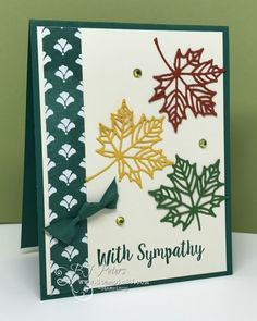 Stampin' Up!, Seasonal Layers Thinlits, Colorful Seasons, BJ Peters, Stampinbj.com