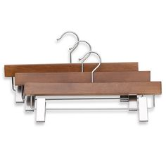 Buy Real Trouser Hanger with Clips (Set of 3) from Bed Bath & Beyond Width?