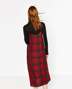 Image 4 of CHECKED SLIP DRESS from Zara