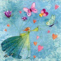 Sweet!! THE FLOWER GIRL & BUTTERFLIES