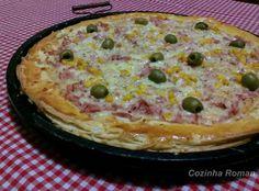 Receita de montagem com ingredientes comprados prontos: pizza de massa folhada