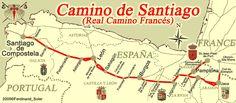 Camino de Santiago Francés. Fuente: cmviaje.blogspot.com