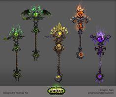 ArtStation - Artifact Weapons in World of Warcraft Legion. , Jongmo Nam