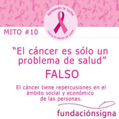 #Mitos #CancerDeMama N°10