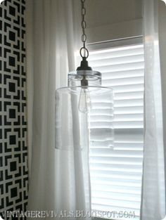 DIY- Glass pendant Light