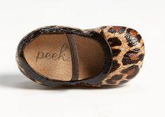 Peek crib shoes