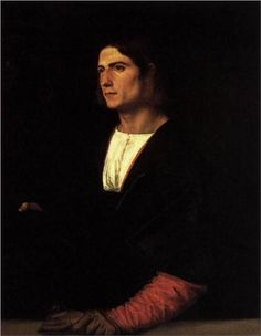 Young Man with Cap and Gloves - Titian, c.1515, 040/255.