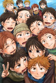 The Nishiura Baseball Team, along with their cheer team ~ Little League Baseball, Baseball Field, Baseball Anime, Natsume Yuujinchou, Cartoon Crossovers, So Little Time, Haikyuu, Online Art, Manhwa