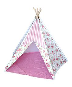 Look what I found on #zulily! Pink Floral & Polka Dot Teepee Tent #zulilyfinds
