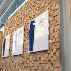 I saw this wall at Urban Outfitters today and fell in LOVE! Wood blocks...such a simple and creative idea! I will make this wall installation one day!