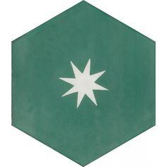Moroccan Encaustic Cement Hexagonal Tile Rex Star Small