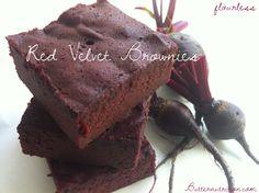 Flourless Red Velvet Brownies