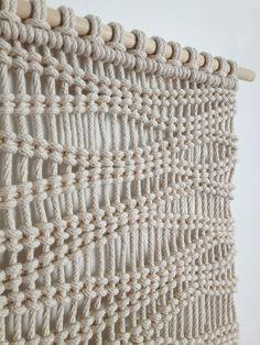 Custom macrame, weaving and fiber art for homes and businesses. Macrame Design, Macrame Art, Macrame Projects, Macrame Wall Hanging Patterns, Macrame Patterns, Deco Originale, Macrame Curtain, Micro Macramé, Knots