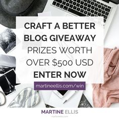 Craft a Better Blog Giveaway