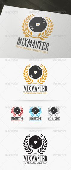Mixmaster Logo — Vector EPS #deejay #dj • Available here → https://graphicriver.net/item/mixmaster-logo/4174138?ref=pxcr