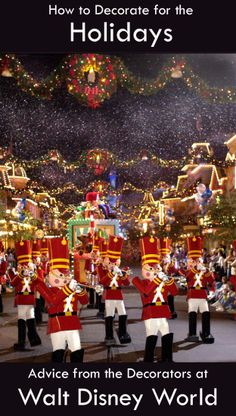 Bring the Magic Home: Holiday decorating tips from the decorators at Walt Disney World. @Spoonful