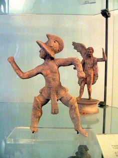 Gladiatore From Taranto,Contrada  Corti  Vecchie,Via Crispi Late  1st cent,BCE-early 1st cent.CE Terracotta Museo  Nazionale Archeologico di Taranto