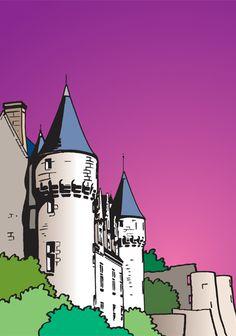 Montrésor en Touraine - Drapeau de rue
