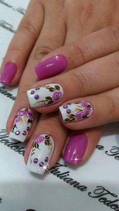 Nails uñas cereza