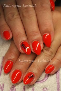 by Kasia Leśniak Double Tap if you like #mani #nailart #nails #red Find more Inspiration at www.indigo-nails.com
