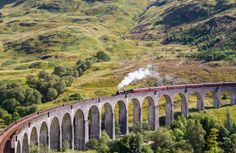 Ride the Hogwarts Express! Glenfinnan Viaduct, Scotland  The Jacobite steam train is a great way to experience the stunning scenery and special atmosphere of Glenfinnan. You may even recognise it from Harry Potter! Photo by Colin Roberts - More info