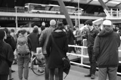 We're m o b i l e, m o v i n g, r e m o v a b l e. Central Station, IJ-plein pont, Amsterdam
