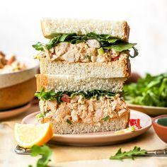 Homemade Chicken Salads, Best Chicken Salad Recipe, Easy Homemade Pizza, Chicken Sandwich Recipes, Chicken Salad Sandwiches, Simple Sandwich Recipes, Chicken Sandwich Filling, Chicken Salad Ingredients, Chicken Appetizers