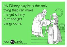 My Disney playlist is all I ever listen to...is that sad? lol