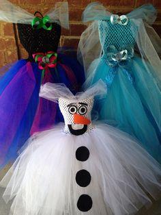 Matching Sibling Frozen Anna Elsa Tutu Dress by MissMatchBoutique