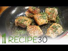 Pork fillet tenderloin wrapped in prosciutto - Saltimbocca recipe - YouTube