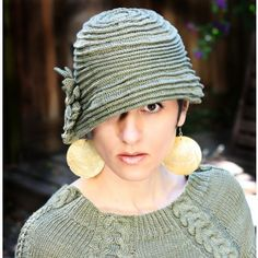 "This beautiful hat is one of the ""Classic Crochet Cloches"" included in this pattern for sale."