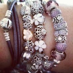 A beautiful Pandora stack creation of I am a Pandora kinda a of lady :)