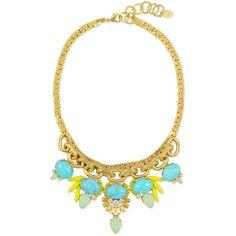 Rental Elizabeth Cole Bird of Paradise Necklace ($40) ❤ liked on Polyvore featuring jewelry, necklaces, blue, cabochon jewelry, blue jewelry, swarovski crystal necklace, swarovski crystal jewelry and blue bird jewelry