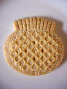 Scottish thistle shortbread biscuits