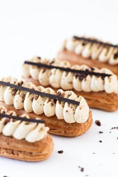 Coffee Eclairs – Beyond Our Sky Coffee Eclairs – Beyond Our Sky,Kuchen Rezepte – Cakes recipes Coffee French Desserts, Köstliche Desserts, Dessert Recipes, Plated Desserts, Pastry Recipes, Baking Recipes, Kale Recipes, Rib Recipes, Roast Recipes