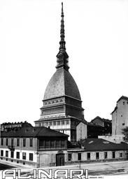 View of the Antonelliana Mass of Turin. Work by Alessandro Antonelli
