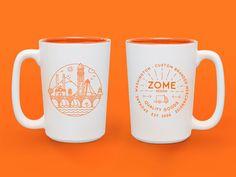 Zome mugs by Lauren Brandt