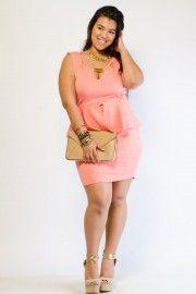 SWIRL EMBOSSED PEPLUM DRESS Plus Sizes – Tops, Dresses, Pants, Skirts & Accessories − G-Stage