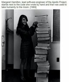 It's crazy that we know all about the first man to land on the moon but no one mentioned her. - 9GAG
