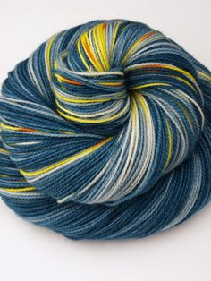 100% Superwash Merino, Hand Dyed Fingering/Sock Yarn, Vincent and the Doctor
