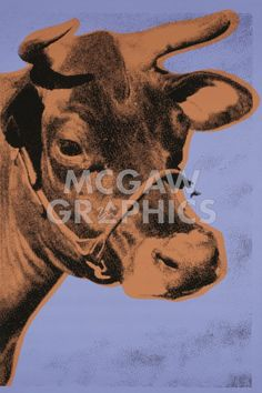 Cow, 1971 (purple & orange)