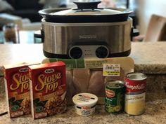 Crockpot Chicken, Stuffing and Green Bean Recipe
